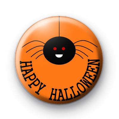 Happy Halloween Spider Badge