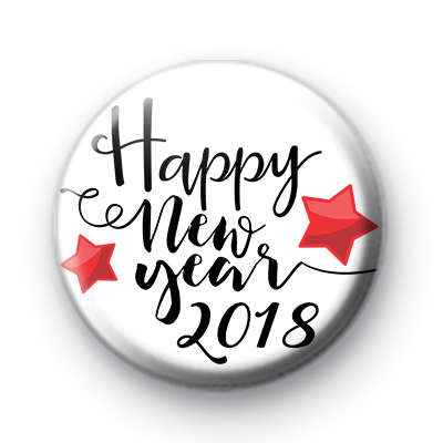 Happy New Year 2018 Red Stars Badge