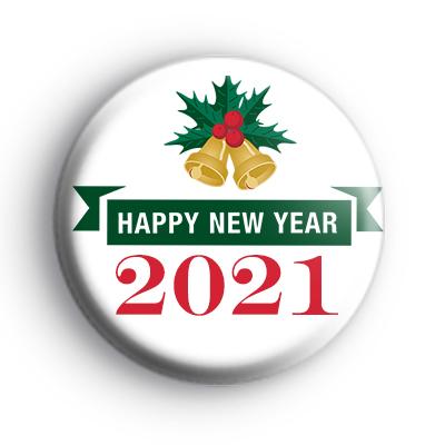 Happy New Year 2021 Bells Badge