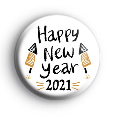 Happy New Year 2021 Rocket Badge
