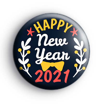 Blue and Yellow Happy New Year 2021 Badge