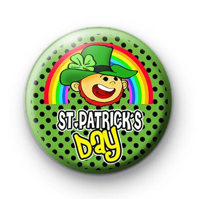Leprechaun Happy St Patrick's Day Badge