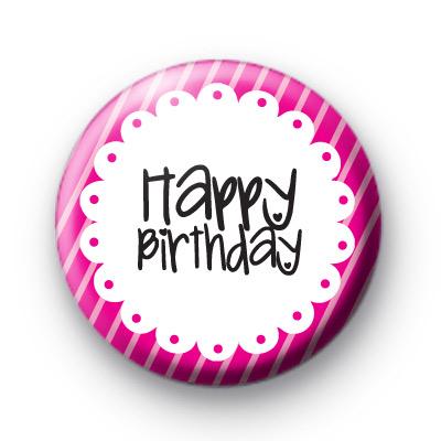 Happy Birthday Pretty Pink Badge