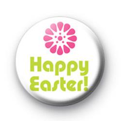 Happy Easter Flower Badge