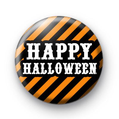 Happy Halloween Orange and Black Badge