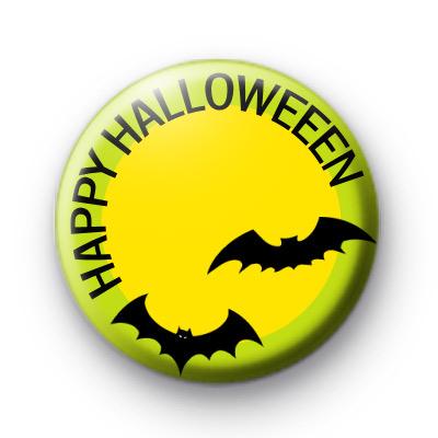 Happy Halloween Bats Badge
