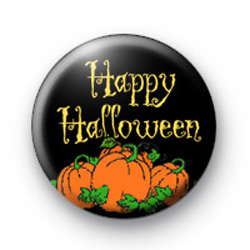 Pumpkin Happy Halloween Badges