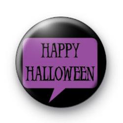Purple Happy Halloween Badge
