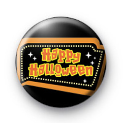 Happy Halloween Sign Button Badges