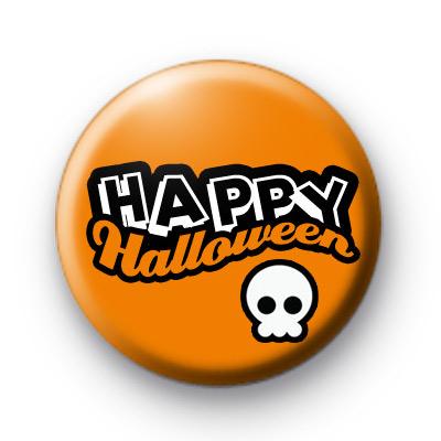 Happy Halloween Skull Badge badge