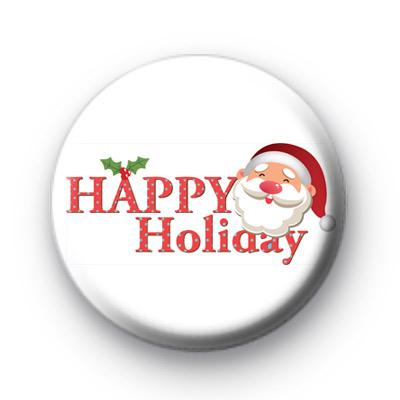Happy Holidays Cute Santa Badge
