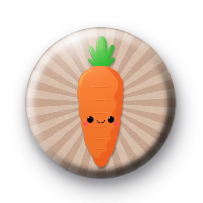 Happy Orange Carrot Badge