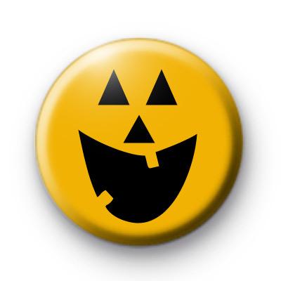 Happy Halloween Pumpkin Badge