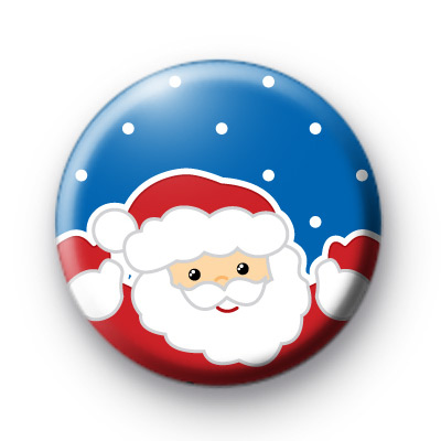 Cute Smiley Santa Claus Badges