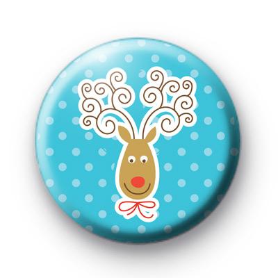 Happy Xmas Reindeer Badges