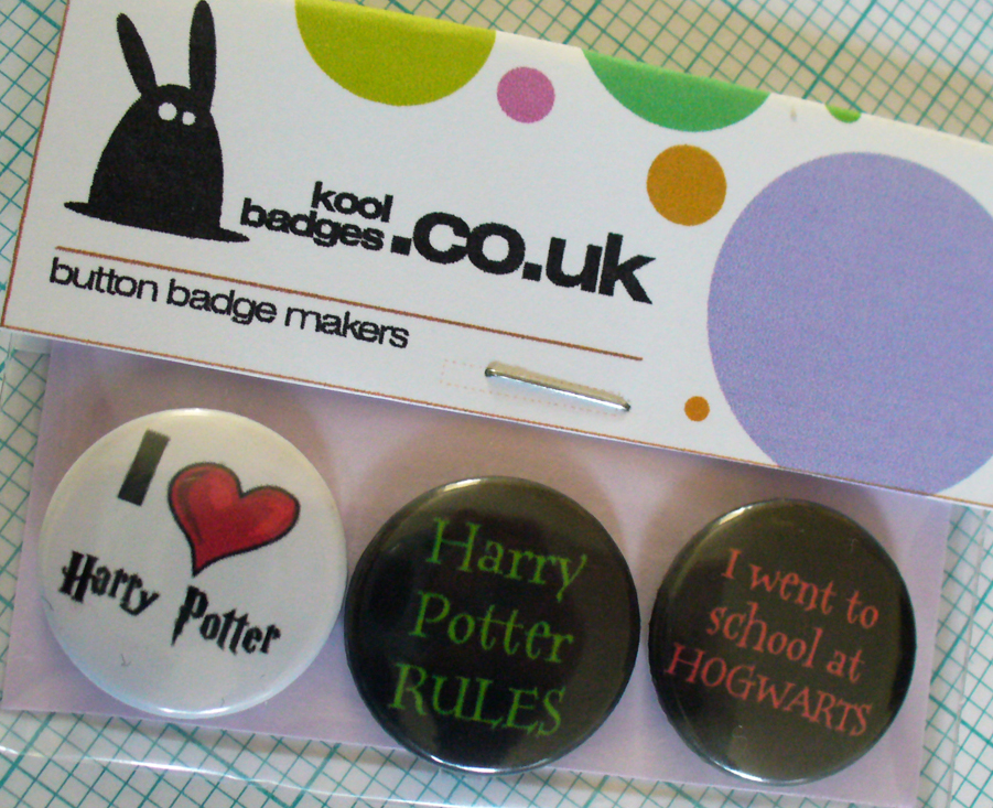 Harry Potter set of 3 badges