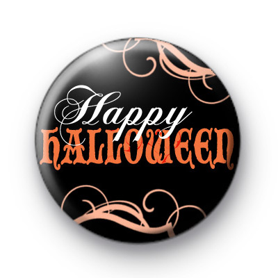 Haunting Happy Halloween Badge