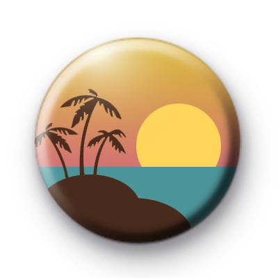 Beach Tropical Scene Badge