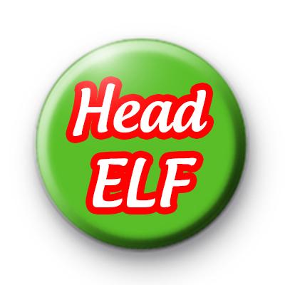 Head Elf Button Badge
