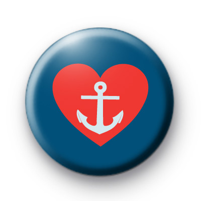 Red and Blue Heart Anchor Badge