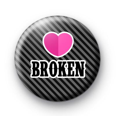Heart Broken Button Badge