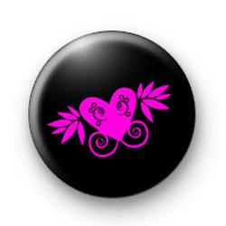 Pink Punk Heart badges