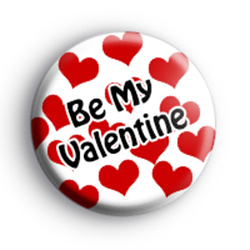 Be My Valentine Love Hearts Badge