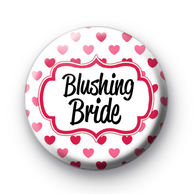 Hearts Galore Blushing Bride Badge