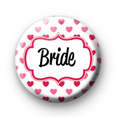 Hearts Galore Bride Button Badges