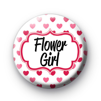 Hearts Galore Flower Girl Badge