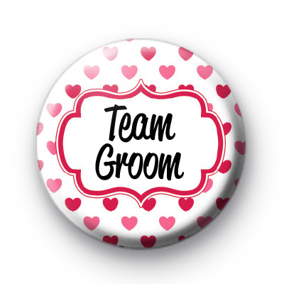 Hearts Galore Team Groom Badges