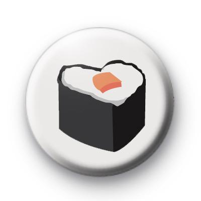 Sushi Heart Shaped Food Badge