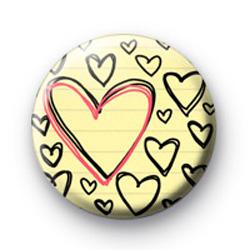 Hearts Scribble badge