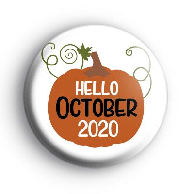 Hello October 2020 Pumpkin Badge