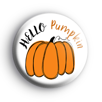 Hello Pumpkin Badge