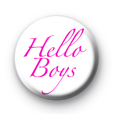 Hello Boys Button Badges