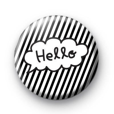 Hello Speech Bubble Button Badges