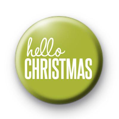 Hello Christmas Badges