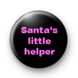 Santa's Little helper (pink) badges