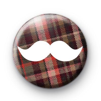 Highland Moustache Movember Badge