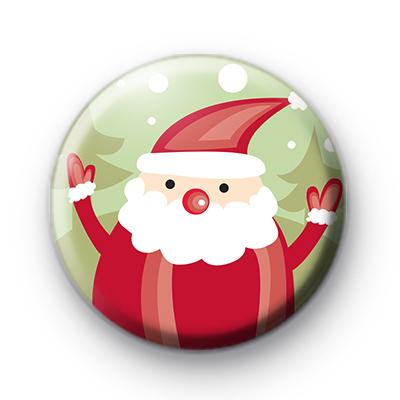 Ho Ho Ho Festive Santa Claus Badge