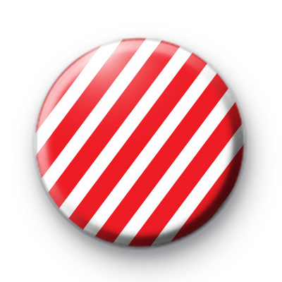 Red and White Candy Cane Badge