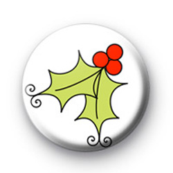 Festive Holly Badges