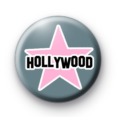 Hollywood Star Button Badges