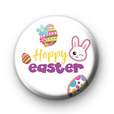 Bunny Hoppy Easter Pin Badge
