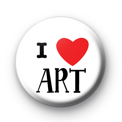 I Love Art Button Badges