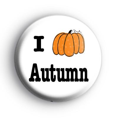I Love Autumn Badge