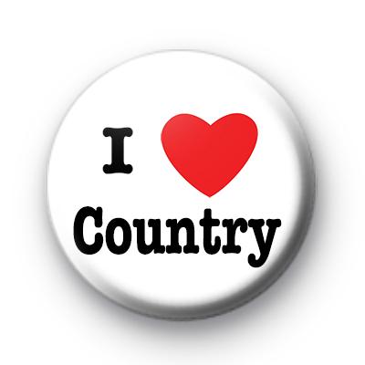 I Love Country Music badge