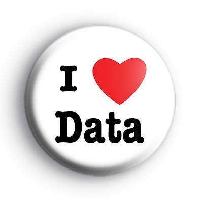 I Love Data Badge
