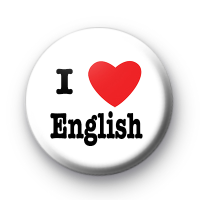 I Love English badges